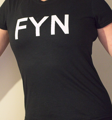 'FYN' T-shirts, they make a good talking point.